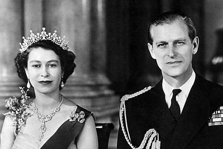 Königin Elizabeth und Prinz Philip waren 73 Jahre verheiratet. Foto: ---/UPI INP/dpa
