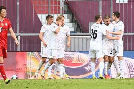 Union Berlin erkämpfte sich einen Punkt beim FC Bayern. Foto: Sven Hoppe/dpa