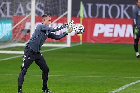 Steht gegen Nordmazedonien im DFB-Tor: Marc-André ter Stegen. Foto: Stefan Constantin/dpa