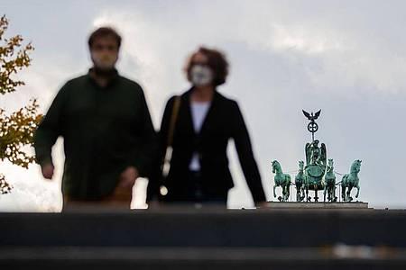 Die Quadriga auf dem Brandenburger Tor in Berlin. Foto: Christoph Soeder/dpa