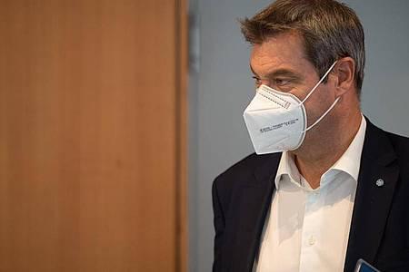 "Bayerns Ministerpräsident Markus Söder sieht ein ""neuen Kapitel"" im Kampf gegen Corona. Foto: Peter Kneffel/dpa"