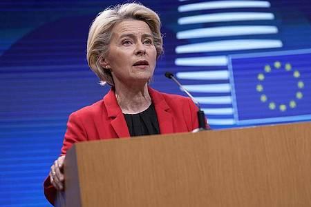 Ursula von der Leyen (CDU), Präsidentin der Europäischen Kommission. Foto: Francisco Seco/AP/dpa