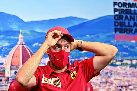 Sieht bei seinem Wechsel zum Team Aston Martin keine Parallelen zu Michael Schumachers Karriere-Spätphase: Sebastian Vettel. Foto: Clive Mason/GETTY POOL/AP/dpa