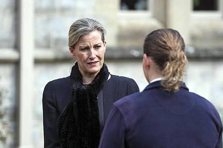 Sophie, die Gräfin von Wessex, bei einem Gottesdienst auf Schloss Windsor. Foto: Steve Parsons/PA Wire/dpa