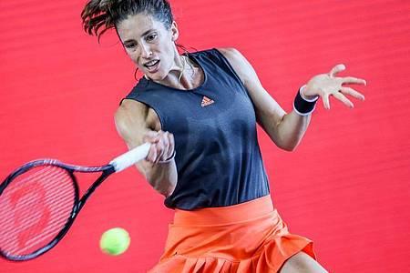 Den deutschen Auftakt am zweiten Turniertag bei den French Open macht Andrea Petkovic. Foto: Andreas Gora/dpa
