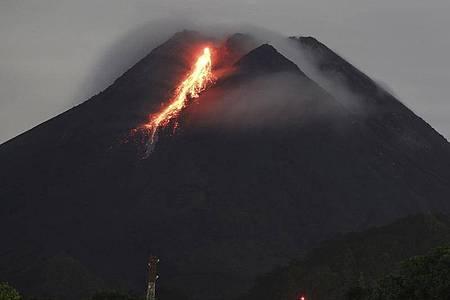 Der Merapi gilt als einer der gefährlichsten Vulkane der Welt. Foto: Taufiq Rozzaq/AP/dpa