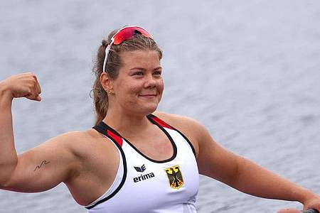 Holte Bronze im Kanu-Sprint über 200 Meter: Felicia Laberer. Foto: Karl-Josef Hildenbrand/dpa
