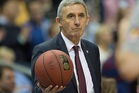 Trainiert inzwischen in Spanien:Ex-BBL-Coach Svetislav Pesic. Foto: Lukas Schulze/dpa