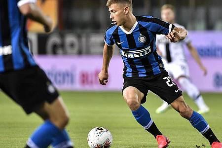 Nicolo Barella von Inter Mailand in Aktion. Foto: Marco Alpozzi/LaPresse/AP/dpa