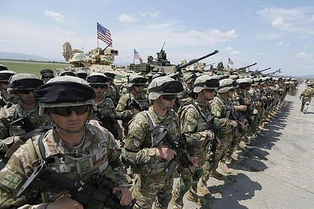 Einheiten der NRF waren zuletzt 2005 in den Einsatz geschickt worden. Foto: Zurab Kurtsikidze/EPA/dpa