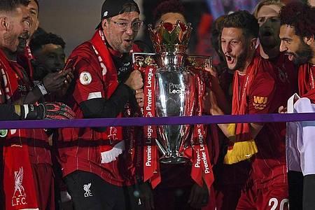 Jürgen Klopp gewinnt mit dem FCLiverpool erstmals seit 30 Jahren wieder den Titel in der englischen Premier League. Foto: Laurence Griffiths/Pool Getty/dpa