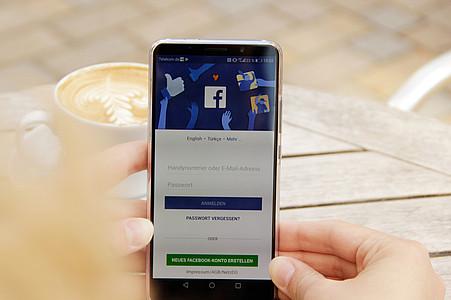 Facebook-App auf dem Smartphone