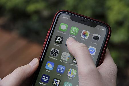 WhataApp-Icon auf Smartphone