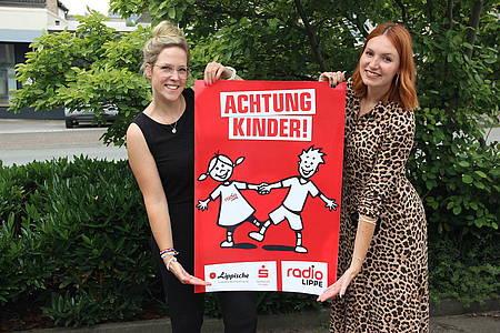Achtung Kinder-Plakat