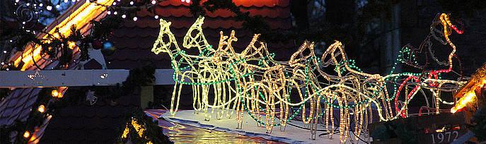 Lichter auf dem Weihnachtsmarkt