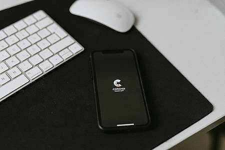 Corona-App auf dem Smartphone