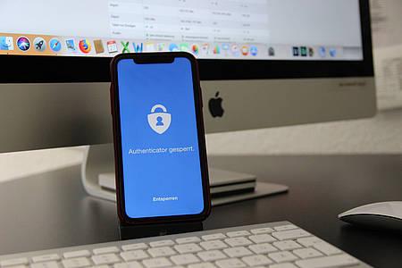 Smartphone mit Passwort App