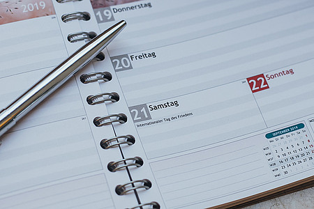 Kalender mit Kulli