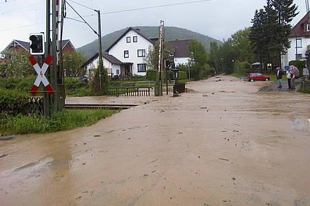 Szene Hochwasser