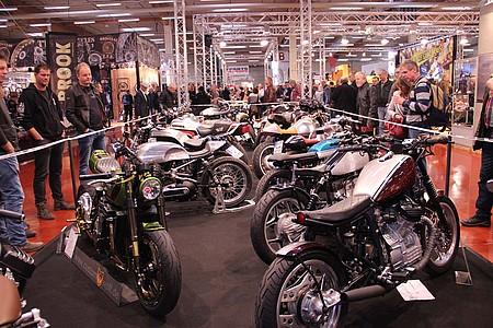 Ausstellung von Motorrädern