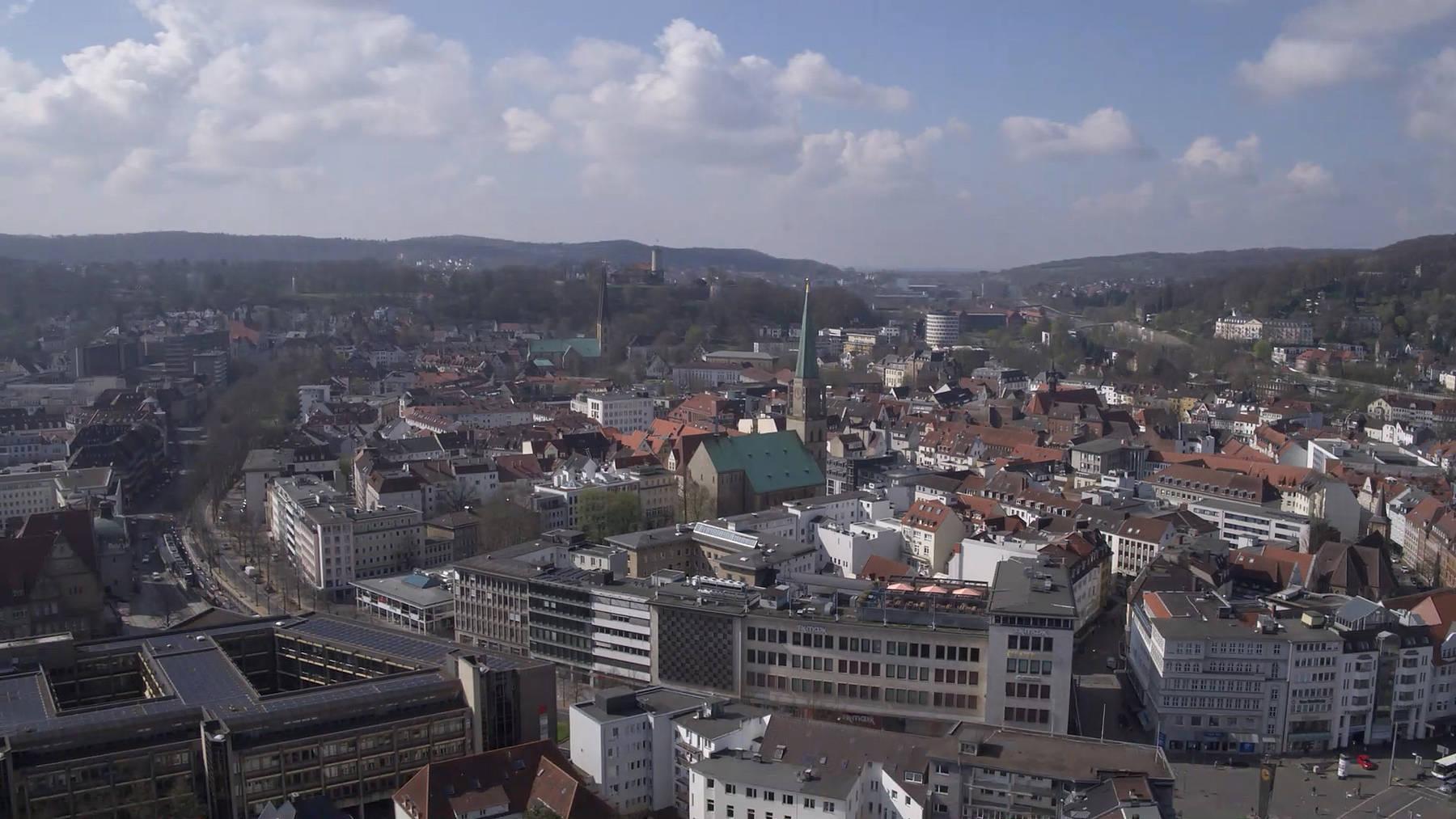 Ausblick über die Innenstadt von Bielefeld